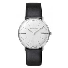 Junghans 047/4251.02 max bill Ladies Watch Sapphire Crystal Black Leather Strap