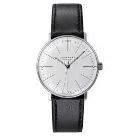 Junghans 027/3700.02 max bill Handaufzug Armbanduhr mit Saphirglas