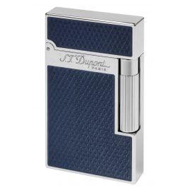 S.T. Dupont 016252 Feuerzeug mit Guillochierung unter blauem Lack