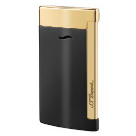 S.T. Dupont 027708 Lighter Slim 7 Noir & Doré
