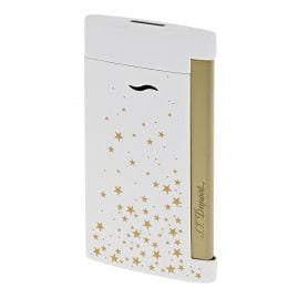 S.T. Dupont 027221 Lighter Slim 7 Space Stars Gold Tone