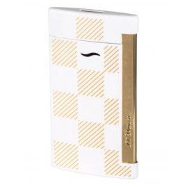 S.T. Dupont 027744 Lighter Slim 7 Checked White