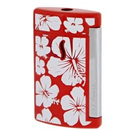 S.T. Dupont 010535 Lighter Minijet Hawaii Torch Flame Red
