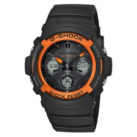 Casio AWG-M100SF-1H4ER G-Shock Solar Radio-Controlled Watch Black / Orange