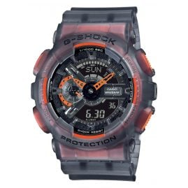 Casio GA-110LS-1AER G-Shock Classic Herrenuhr Grau / Orange