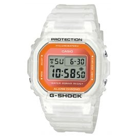 Casio DW-5600LS-7ER G-Shock Trending Digital Watch White / Orange
