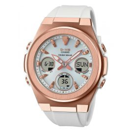 Casio MSG-S600G-7AER G-Shock Women's Watch Solar White/Rose Gold Tone