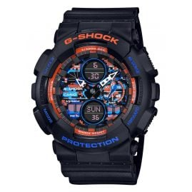 Casio GA-140CT-1AER G-Shock Classic Herrenuhr Schwarz/Orange/Blau