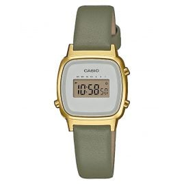 Casio LA670WEFL-3EF Vintage Mini Digital Watch for Ladies Green/Gold