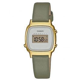 Casio LA670WEFL-3EF Vintage Mini Digital Watch for Ladies Green/Gold