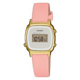 Casio LA670WEFL-4A2EF Vintage Mini Digital-Damenuhr Rosa/Gold