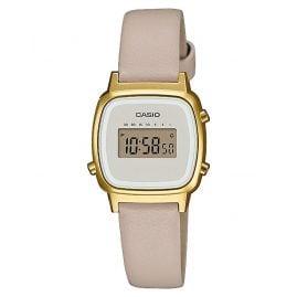 Casio LA670WEFL-9EF Vintage Mini Digital-Armbanduhr für Damen Beige/Gold