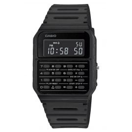 Casio CA-53WF-1BEF Vintage Edgy Digital Watch with Calculator Black