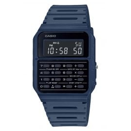Casio A-53WF-2BEF Vintage Edgy Digital Watch with Calculator Blue