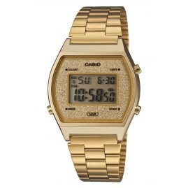 Casio B640WGG-9EF Digital Watch Vintage Edgy Gold Tone