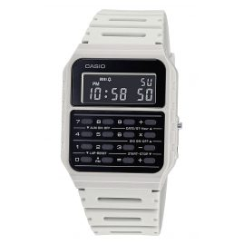 Casio CA-53WF-8BEF Vintage Edgy Digital Watch with Calculator Light Beige