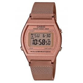 Casio B640WMR-5AEF Vintage Edgy Digital Watch with Mesh Strap