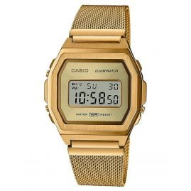Casio A1000MG-9EF Vintage Iconic Damenuhr Goldfarben