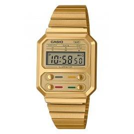 Casio A100WEG-9AEF Vintage Edgy Uhr Goldfarben