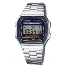 Casio A168WA-1YES Digitaluhr Vintage Silberfarben