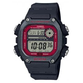 Casio DW-291H-1BVEF Collection Herrenuhr Digital Schwarz/Rot