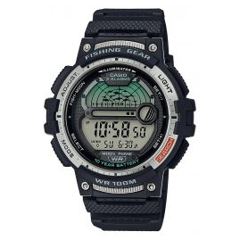 Casio WS-1200H-1AVEF Men's Digital Watch for Angler and Fishermen Black