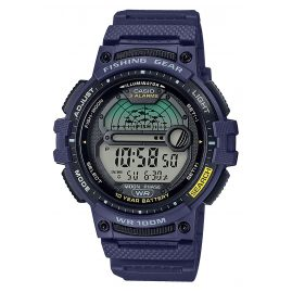 Casio WS-1200H-2AVEF Men's Watch Digital for Angler and Fishermen Blue