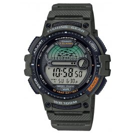 Casio WS-1200H-3AVEF Men's Digital Watch for Fishermen and Angler Green