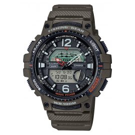 Casio WSC-1250H-3AVEF Men's Watch AnaDigi for Fishermen and Angler Green