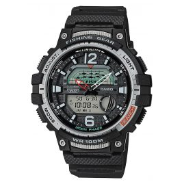 Casio WSC-1250H-1AVEF AnaDigi Men's Watch for Fishermen and Angler Black