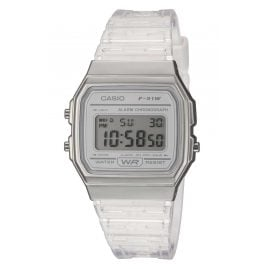 Casio F-91WS-7EF Collection Damen- und Jugenduhr Silberfarben