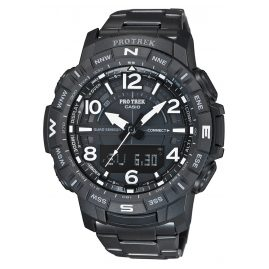 Casio PRT-B50YT-1ER Pro Trek Bluetooth Men's Watch Black Titanium Bracelet