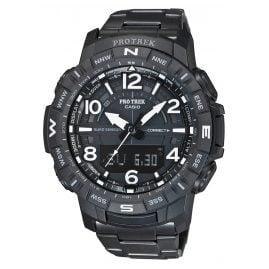 Casio PRT-B50YT-1ER Pro Trek Bluetooth Herrenuhr Titan-Armband schwarz