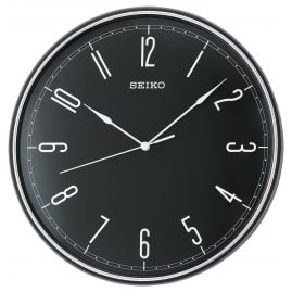 Seiko QXA755K Wall Clock with Quiet Movement Black 28 cm