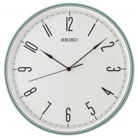 Seiko QXA755M Wall Clock with Quiet Movement Turquoise / White 28 cm