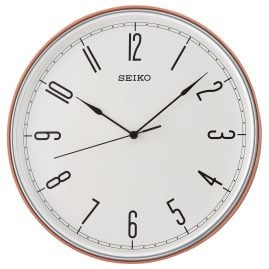 Seiko QXA755R Wall Clock with Quiet Movement Red / Orange / White 28 cm