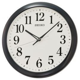 Seiko QXA776K Wall Clock with Automatic Lightning Black