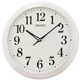 Seiko QXA776W Wall Clock with Automatic Lightning White