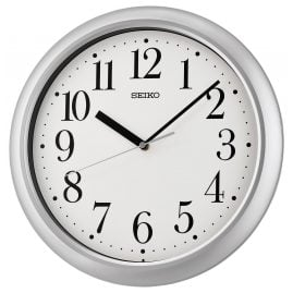 Seiko QXA787S Wall Clock Quartz Silver Tone