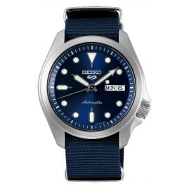 Seiko 5 Sports SRPE63K1 Automatic Men's Watch with Blue Nato Strap