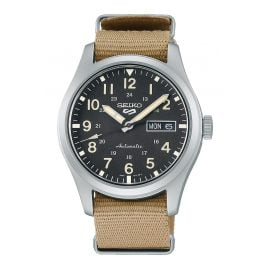 Seiko 5 Sports SRPG35K1 Men's Wristwatch Automatic Beige/Black