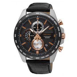 Seiko SSB265P1 Chronograph Men's Watch Black / Rose Gold