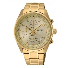 Seiko SSB382P1 Men's Watch Chronograph Gold Tone