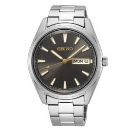 Seiko SUR343P1 Herren-Armbanduhr Grau mit Saphirglas