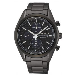 Seiko SSC773P1 Men's Watch Solar Chronograph Black