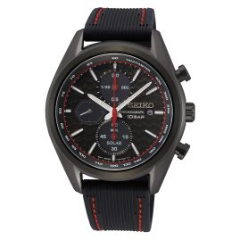 Seiko SSC777P1 Men's Watch Solar Chronograph Black