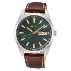 Seiko SUR449P1 Herren-Armbanduhr mit Saphirglas Braun/Grün