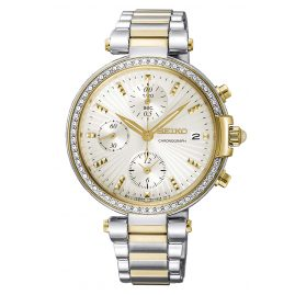 Seiko SNDV42P1 Ladies' Watch Chronograph Two-Colour