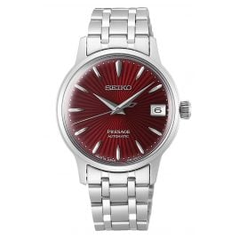 Seiko SRP853J1 Presage Automatic Ladies' Watch with Red Dial