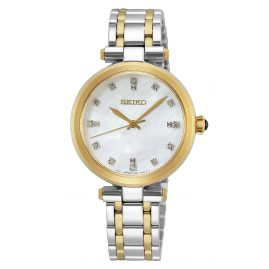 Seiko SRZ532P1 Ladies Quartz Watch Two-Colour with Diamonds